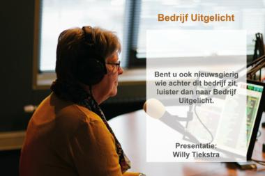 Dhr. Lemminga en Mevr. Mooibroek uit Vlagtwedde  in het programma Bedrijf Uitgelicht