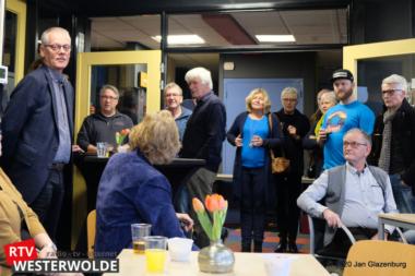 Vrijwilligers RTV Westerwolde toosten op het nieuwe jaar