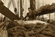 Zeldzame-aan-boord-foto-van-kapiteinsvrouw-De-Grooth-uit-Pekela