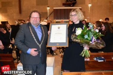 """Erepenning voor Christelijke muziekvereniging """"Excelsior"""" Nieuwe Pekela"""