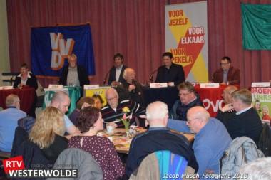 Zeven Pekelder partijen discussiëren tijdens lijsttrekkersdebat in De Kiepe