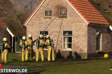 Felle brand in vakantiewoning Nieuwediep