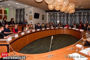 Leerlingen RSG Ter Apel bootsen raadsvergadering na tijdens jeugdraad