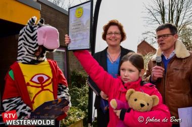 Verkeersveiligheidslabel voor OBS De Klimop Ter Apelkanaal